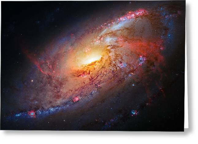 Spiral Galaxy M106 Greeting Card by Marco Oliveira