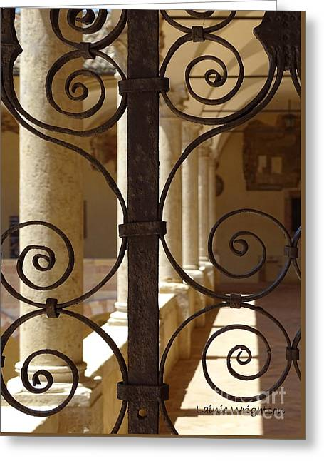 Spiral Gate  Greeting Card by Lainie Wrightson