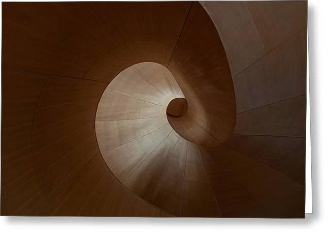 Spiral Greeting Card by Heather Bonadio