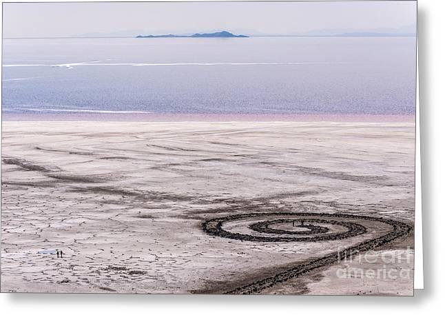 Spiral Jetty - Great Salt Lake - Utah Greeting Card by Gary Whitton
