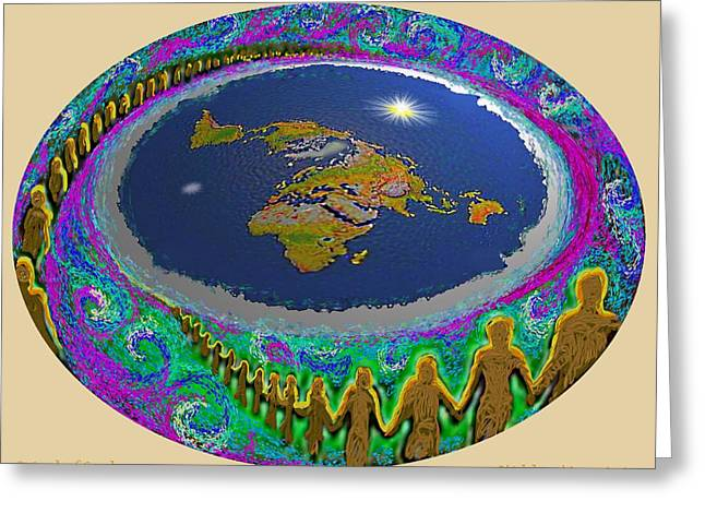 Spiral Of Souls Flat Earth Greeting Card