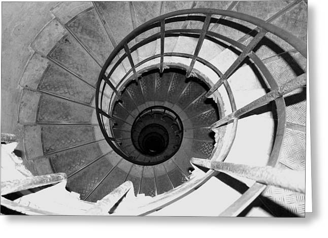 Greeting Card featuring the photograph Spiral Staircase At The Arc by Donna Corless