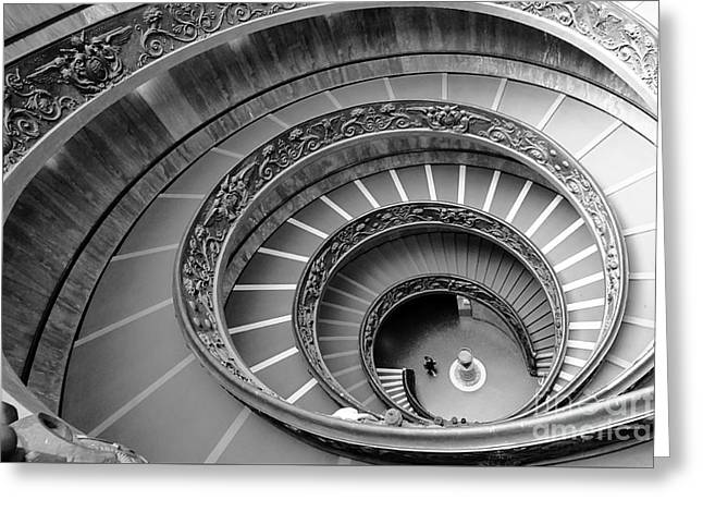Spiral Staircase Greeting Card by Floyd Menezes