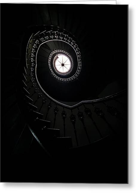 Spiral Staircase In An Old Mansion Greeting Card