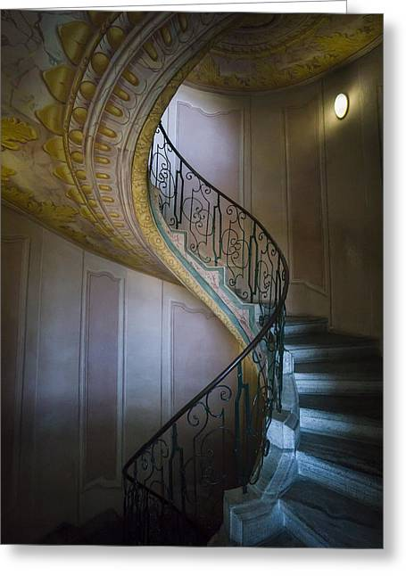 Spiral Staircase Melk Abbey II Greeting Card