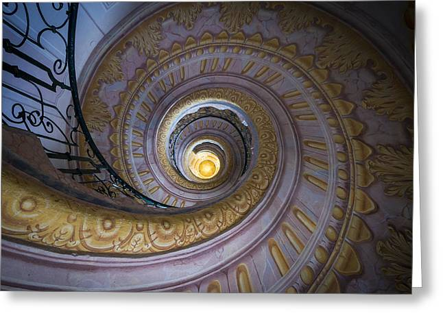 Spiral Staircase Melk Abbey IIi Greeting Card