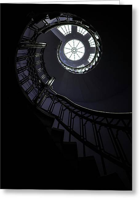 Spiral Staircase With Glass Roof Greeting Card
