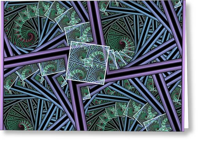 Spiral Staircases Greeting Card
