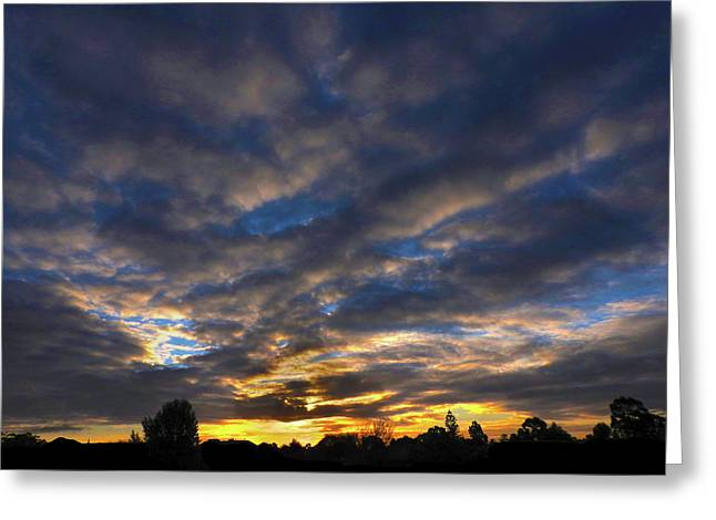 Greeting Card featuring the photograph Spiral Sunset by Mark Blauhoefer