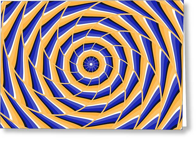 Spiral Twisting To Center Greeting Card by Yurii Perepadia