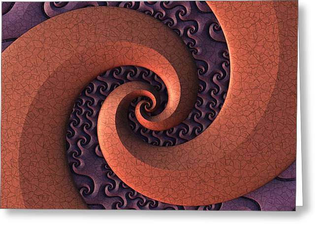 Greeting Card featuring the digital art Spiralicious by Lyle Hatch