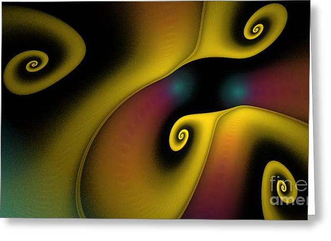 Spiralicious Greeting Card by Sandra Bauser Digital Art