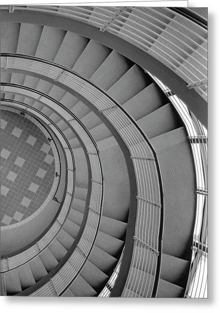Spiraling Down  Greeting Card