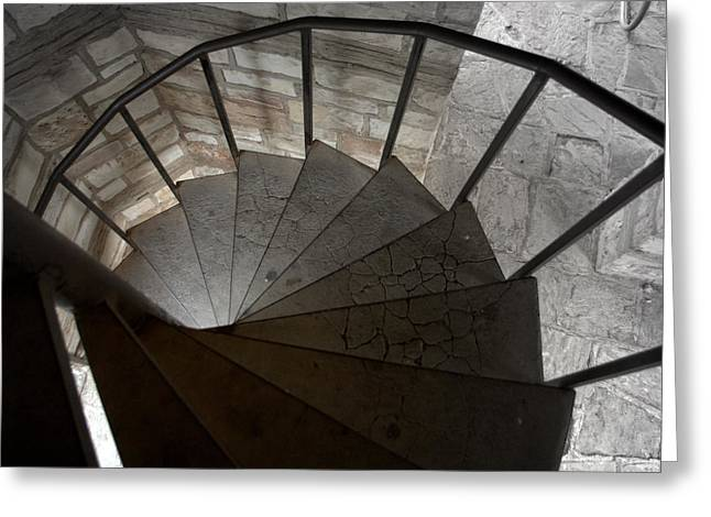 Greeting Card featuring the photograph Spiraling Downward by Karen Musick