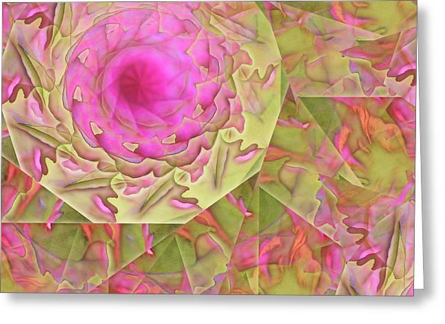 Spiraling Glass Greeting Card