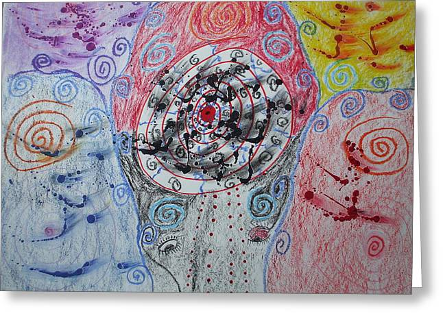 Spiraling Greeting Card by Sam Persons