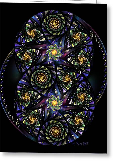 Spirals Of The Night Greeting Card