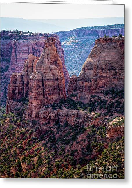 Spires And Mesa Country Greeting Card by Jon Burch Photography