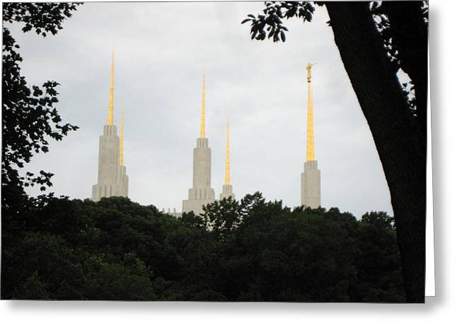 Spires Greeting Card by Sean Owens
