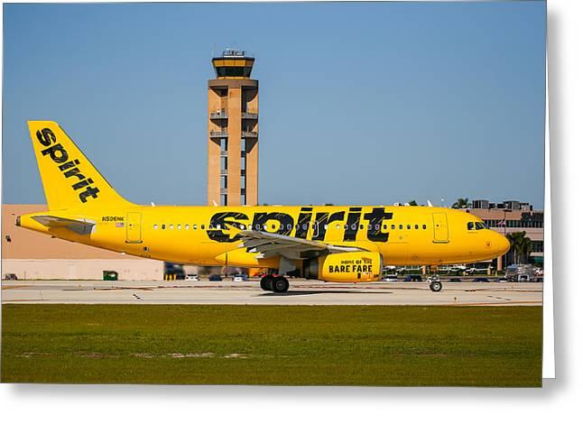 Spirit Airline Greeting Card