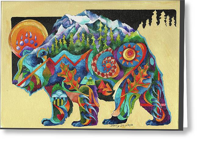 Spirit Bear Totem Greeting Card