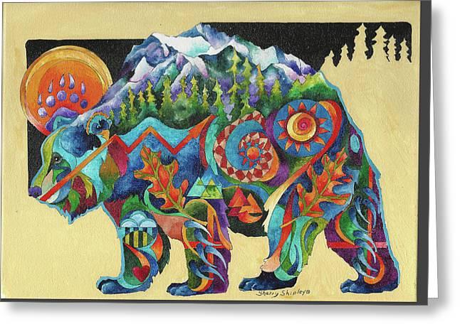 Spirit Bear Totem Greeting Card