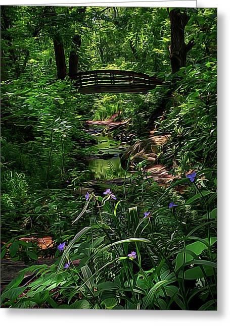 Spirit Bridge 2 Greeting Card by William Horden