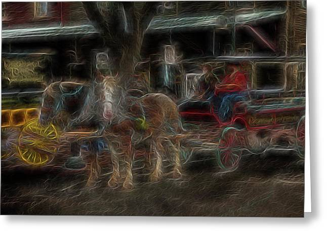 Spirit Carriage 3 Greeting Card by William Horden