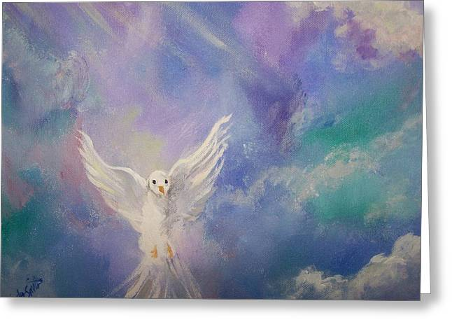 Spirit Come Greeting Card by Wendy Smith