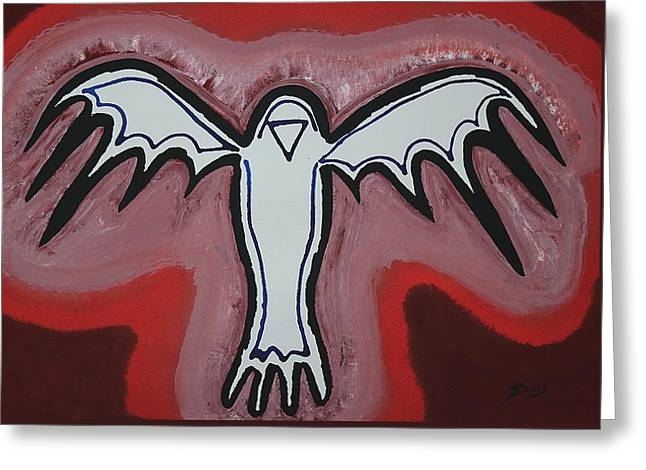 Spirit Crow Original Painting Greeting Card