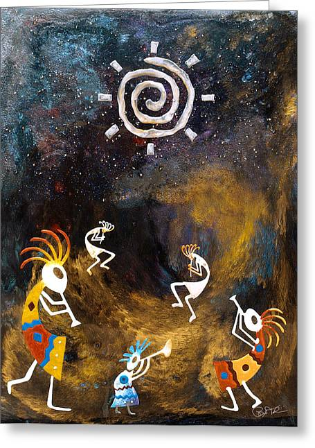 Spirit Dance Greeting Card by Paul Tokarski