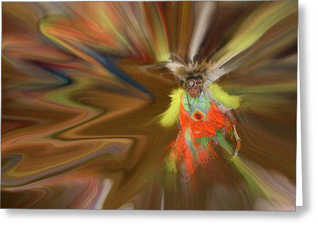 Greeting Card featuring the photograph Spirit Dance by Wayne King