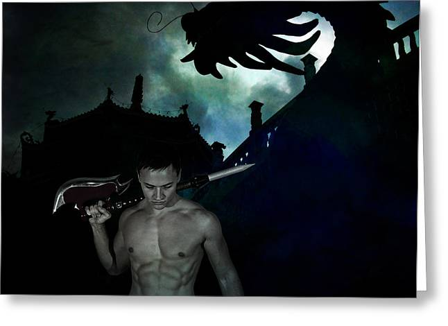 Greeting Card featuring the photograph Spirit Guide by Michael Taggart