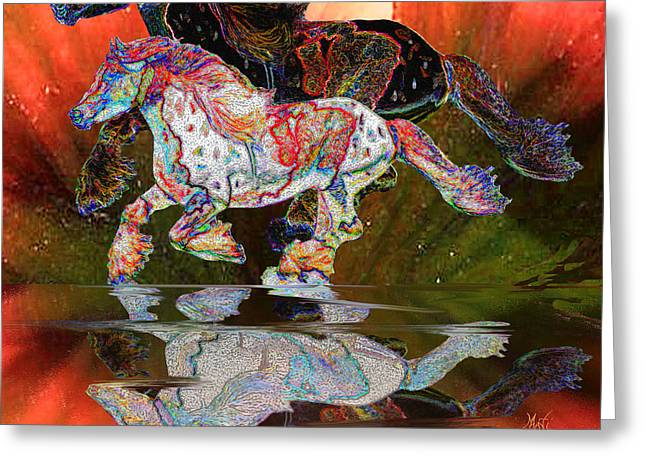 Spirit Horse II Leopard Gypsy Vanner Greeting Card