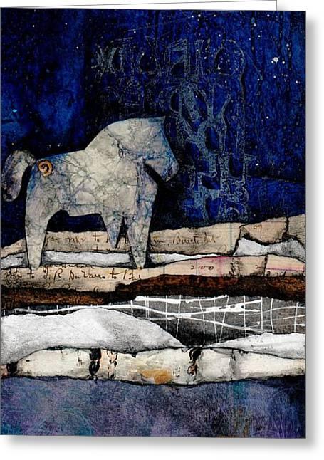 Spirit Horse Of Evening Splender Greeting Card by Laura  Lein-Svencner