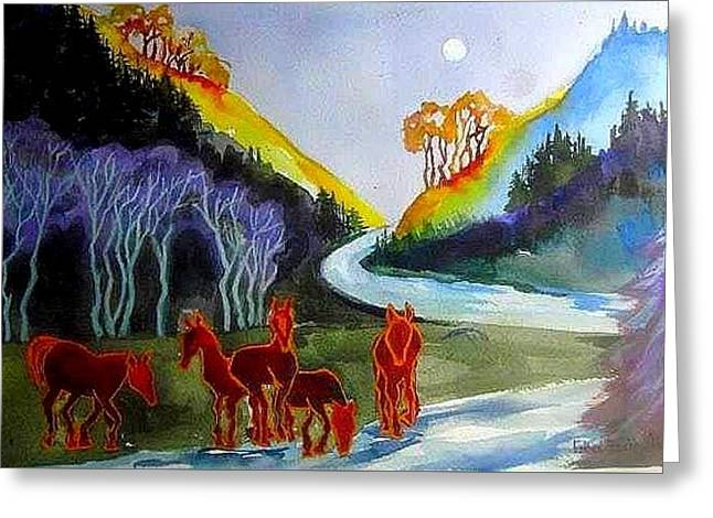 Spirit Horses Greeting Card