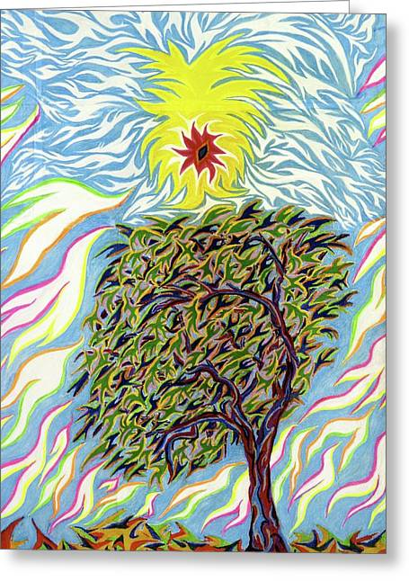 Spirtuality Greeting Cards - Spirit in The Tree Greeting Card by Robert  SORENSEN
