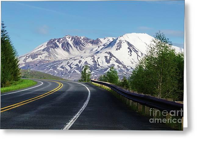 Spirit Lake Highway To Mt. St. Helens Greeting Card