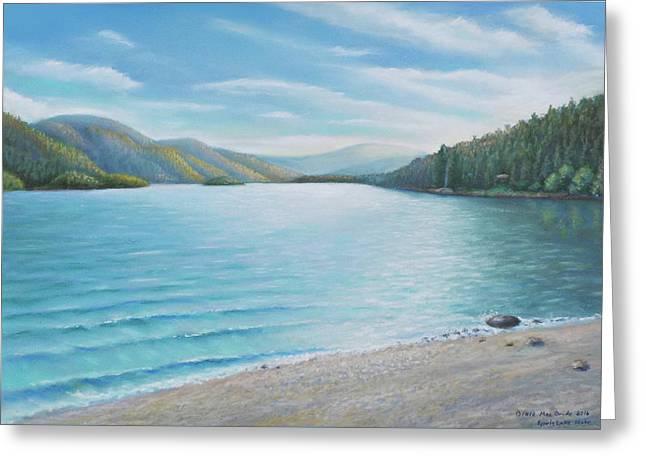 Spirit Lake On The Beach.  Greeting Card