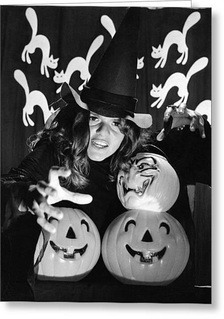 Spirit Of Halloween Greeting Card by Underwood Archives
