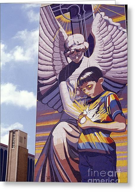Spirit Of Healing Mural San Antonio Texas Greeting Card