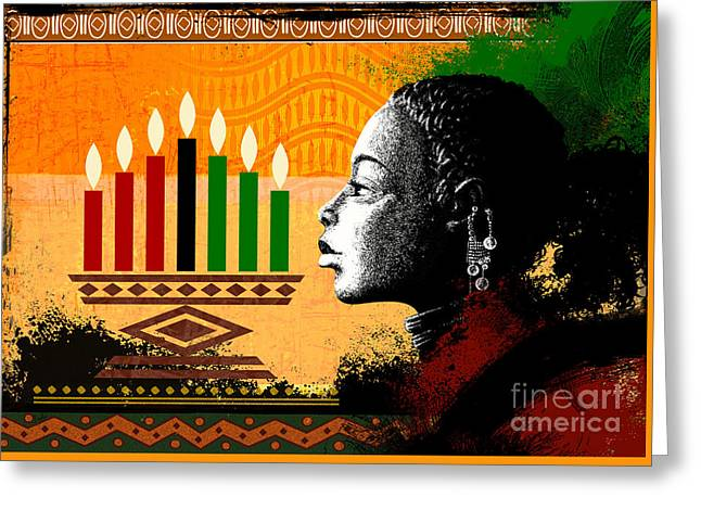 Spirit Of Kwanzaa Greeting Card