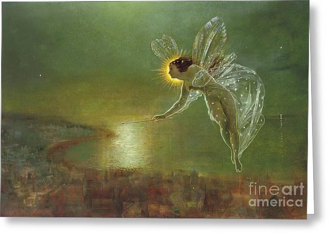 Spirit Of Night, 1879 Greeting Card