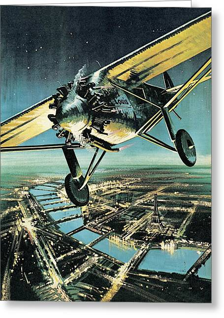 Spirit Of St Louis Greeting Card by Wilf Hardy