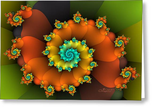 Repetition Greeting Cards - Spirit of Summer Greeting Card by Jutta Maria Pusl
