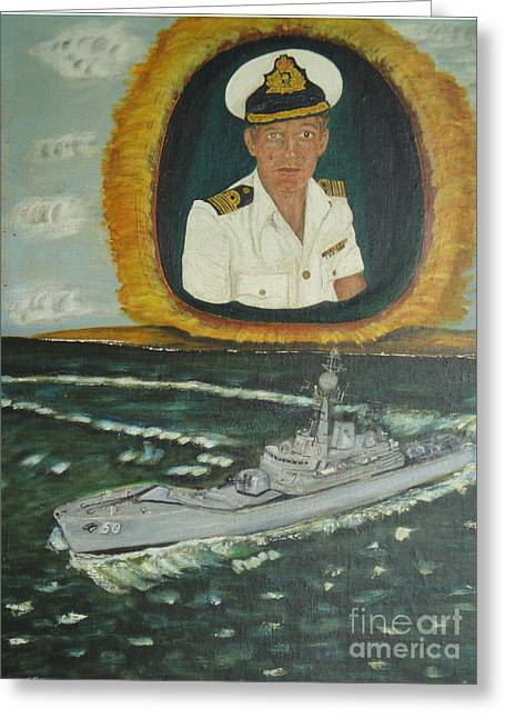 Royal Australian Navy Greeting Cards - Spirit of Swan Greeting Card by Neil Trapp