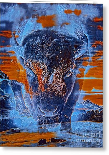 Spirit Of The Buffalo Greeting Card