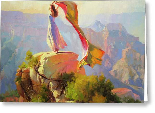 Spirit Of The Canyon Greeting Card