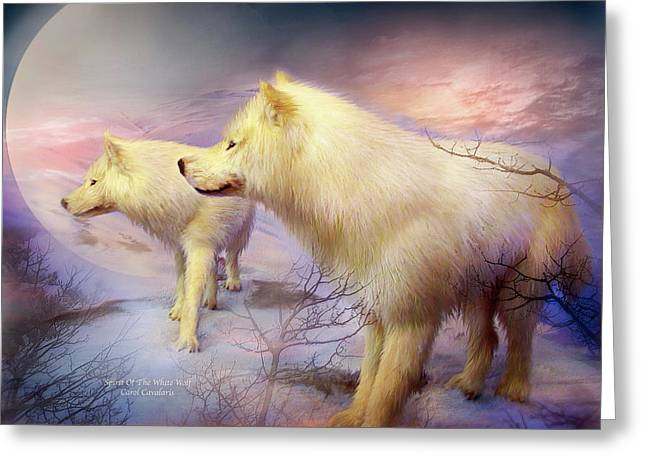 Spirit Of The White Wolf Greeting Card