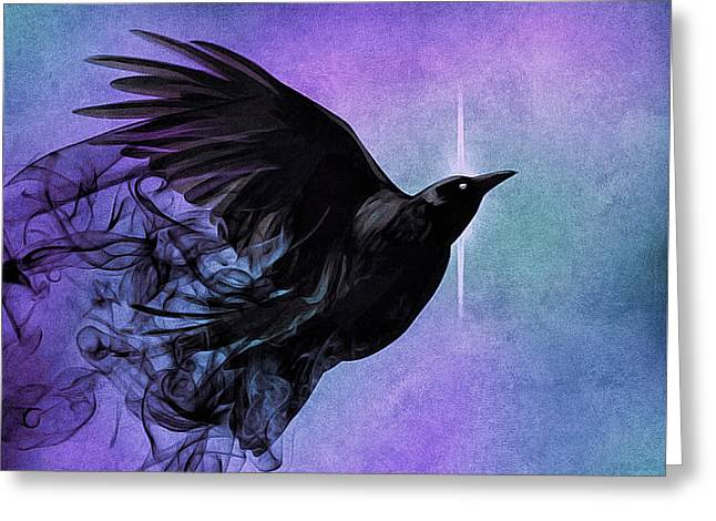 Spirit Raven Greeting Card
